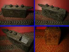 Ancien  Coffret a Talc , Kerala ,  Inde du Sud ...... 4