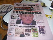 GAZZETTA DELLO SPORT 19/01/2013 ARMSTRONG SHOCK LA VERGOGNA MILAN KAKA A MADRID