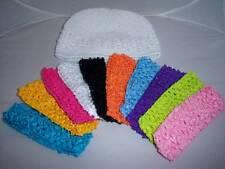wholesale lot NEWBORN baby KUFI HAT 10 bright headbands