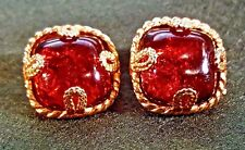 Signed VINTAGE DOMINIQUE AURIENTIS PARIS Earrings  STUNNING - ONLY PAIR ON EBAY