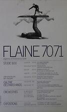 """""""FLAINE / STUDIO 1600 (Programme 70/71)"""" Affiche originale entoilée Roland TOPOR"""
