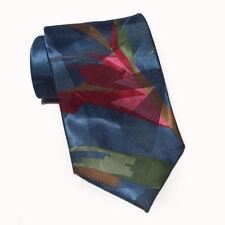 "Pierre Balmain Paris Men Dress Polyester Abstract Neck Tie 3.75"" wide 60"" long"