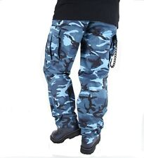 "ARMY BDU PANTS SKY BLUE CAMOUFLAGE Cargo 6 Pockets Size 3XLarge 47""-51"""