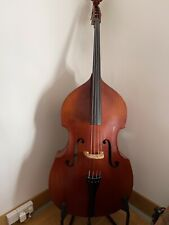 More details for double bass, 3/4 . viol shaped swell back by eberhard meinel, ca 1986