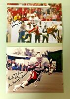NEBRASKA FOOTBALL IRVING FRYAR & PAUL MILES SCORING EXPLOSION SIGNED PHOTO LOT