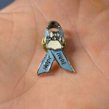 Hope Heal Blue Ribbon Paw Print Cat Dog Pin Lapel Hat Pin