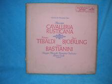 Mascagni Cavalleria Rusticana, Tebaldi, Bjoerling, Bastianini, Box Set LM-6059