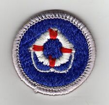 Lifesaving Merit Badge, Type H, Clear Plastic Back (1972 - 2002), Mint!