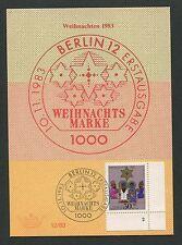 BERLIN MK 1983 707 FN 2 FORMNUMMER!! WEIHNACHTEN MAXIMUMKARTE! MC CM RARE! h1365