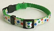 Small Rainbow Stars Collar Green Cat Lap Dog Pet Cute Puppy Kitten Bell Mini S