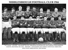 MIDDLESBROUGH F.C. TEAM PRINT 1966 (O'ROURKE/DOWNING/GATES/HICKTON)
