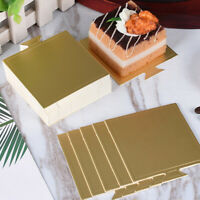 100X Square Mousse Mats Paper Cake Serving Base Disposable Cupcake Tray 7.2x7cm
