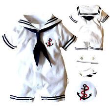 Newborn Baby Boy Girl Anchor Sailor Romper Jumpsuit Outfits Infant Clothes 4-18M