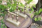 Antique Fireplace  Brass Tool Rest  fire dogs  Cheney