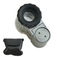 Mini 50X Digital Microscope LED Lights Loupe With Pocket Jewelry Magnifier New