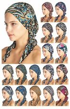 Ashford & Brooks Pre Tied Bandana Sleep Turban Tichel Chemo Head Scarf Headwear