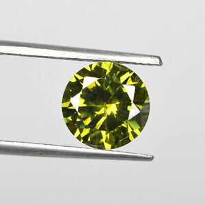 Natural Cambodian Green Zircon 6.65 Ct. Faceted Round Cut Loose Gemstone 10x10mm