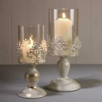 PILLAR CANDLE HOLDERS GLASS DOME HOLDER DECORATIVE CHRISTMAS NEW