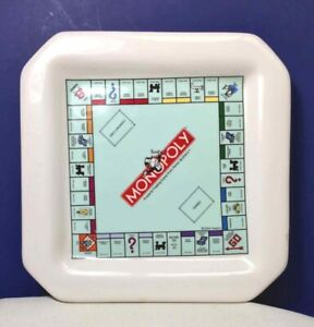 MONOPOLY PLATE Snack Cheese WINE THINGS  UNLIMITED 2004 HASBRO