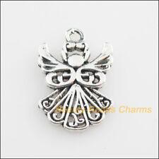 10Pcs Tibetan Silver Tone Dancing Angel Wings Charms Pendants 14x20mm