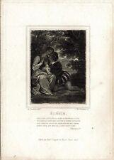 A. DEVERIA - Elégie - Incisione su rame del 1825 - Rif. 271 V