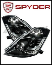 Spyder Projector Headlights Xenon DRL Blk High H1 Lw D2R for Nissan 350Z 03-05