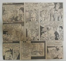 (310) Dick Tracy Dailies by Fletcher and Collins 1-12,1982 Size: 2 x 7 inches