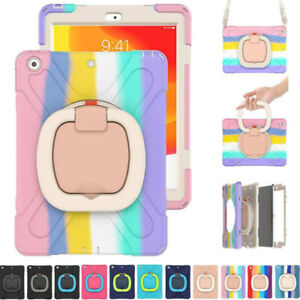 For iPad 5 6 7 8 9th Gen 10.2 2021 Heavy Duty Shockproof Rotate Stand Case Cover