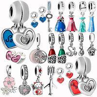 Enamel 925 Silver Pendants Charms Bead For Female European Sterling DIY Bracelet