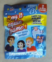 Say It Again Game! includes 12 game cards 1 game dice & 2 mouthpieces NIP
