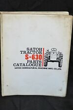 SATOH S-630 BULL Technical Service PARTS Catalog Manual S630  Farm Tractor
