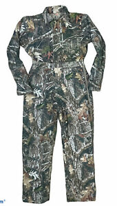 Red Head Silent Hide Camouflage Coveralls Camo Sz 16 Insulated Hunting Realtree