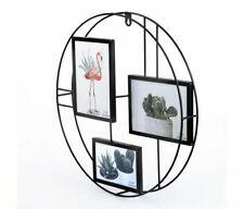 Fashioncraft Fashioncraft 3 Photo Collage Round Wire Picture Wall Frame Modern H