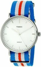 Timex TW2P91100, Men's Weekender Striped Nylon Watch, 41MM Case, Indiglo