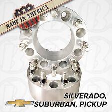 "USA MADE Chevy Silverado Suburban | Wheel Adapters 3"" Spacers 8 lug 6.5 to 8x6.5"
