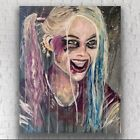 "Original Mixed Media Acrylic Artwork of Harley Quinn ""Rotten"" 16in x 20in x 1.5"