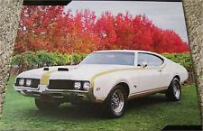 1969 Hurst Oldsmobile 455 ht car print (white & gold)