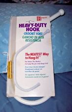 NEW HINGE-IT HEAVY DUTY DOUBLE HANDY HOOK - POP OUT PIN FROM DOOR HINGE & ATTACH