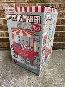 Nostalgia Electrics Old Fashion Carvinal Hot Dog Maker Cart New W Box