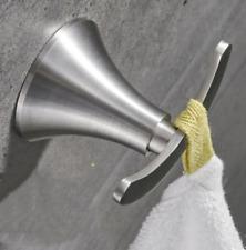 Double Robe Towel Hook Modern Brushed Nickel Stainless steel Bathroom Coat Hooks