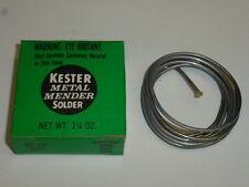 """NEW! KESTER ACID-CORE FLUX SOLDER, .62"""" Diameter, 1-1/4 oz. ROLL"""