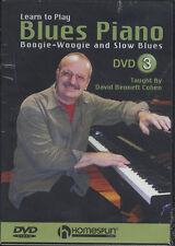 Per imparare a giocare BLUES PIANOFORTE DVD 3 BOOGIE WOOGIE Slow BLUES universitarie DVD