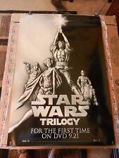 "Star Wars Trilogy First Time on DVD Movie Poster Print 2004 27"" x 40"" B&W"