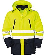 Warnjacke Wetter Warnschutzjacke mit Kapuze 4Protect Arbeitsjacke gelb Gr. S