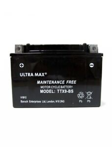Ultramax BATTERY TTX9BS HONDA TRX 200 250 300 QUAD BIKE ATV BATTERY AS YTX9-BS
