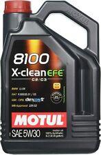 MOTUL 8100 X-CLEAN EFE 5W-30 5 LITER SYNTHETIC Gas OR Diesel BMW GM FIAT