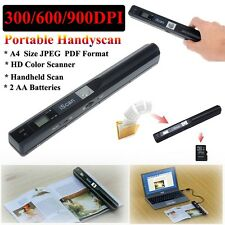 900DPI A4 Portable iScan Color USB 2.0 Mobile PDF/JPE Document Photo HD Scanner
