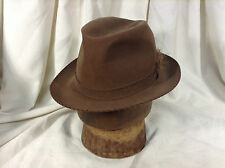 Vintage Dobbs Gay Prince Whip Stitch on Band and Brim Brown Men's Hat Size 7