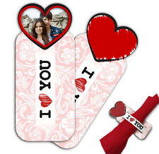PRINT PERSONALIZED NAPKIN RING FELT VALENTINE'S DAY HEART CLIPS DECORATION