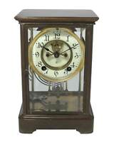 Vintage Ansonia Crystal Regulator Shelf Clock.